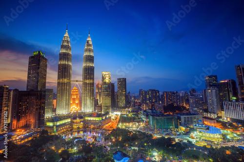 Canvas Prints Kuala Lumpur Kuala Lumper skyline at twilight