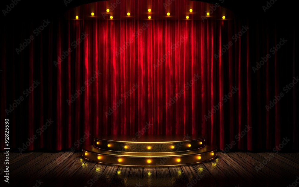 Fototapeta red curtain stage