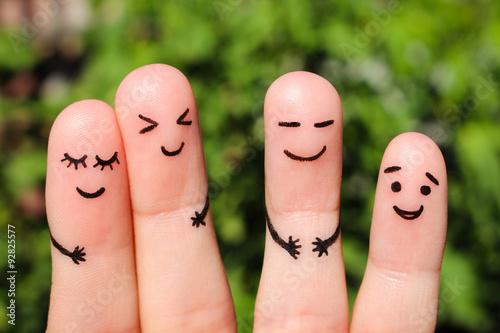 Fotografía  Finger art of friends