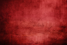 Red Abstract Background On Canvas Texture