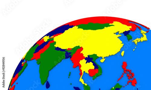 Foto  southeast Asia on Earth political map