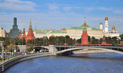 Photo  View of the domes and towers of Moscow city centre