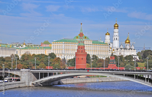Moscow Kremlin view Canvas Print