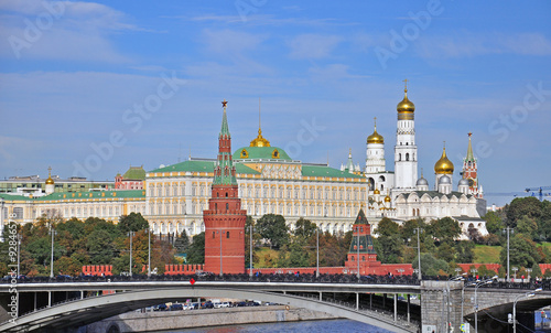 Photo  Moscow Kremlin and city centre