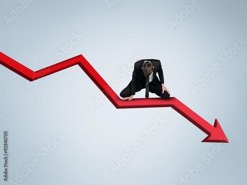Arrow report loss statistics Obraz na płótnie