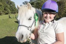 Girl With Prize Winning Pony I...