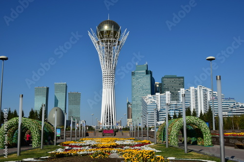 View on Baiterek in Astana, Kazakhstan Canvas Print