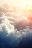Piękne tło błękitnego nieba - 92864116