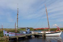 Traditionelle Alt Fjord Fischerboote Im Museumshafen Nymindegab