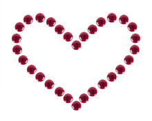 Heart Shaped Drops Jam, Isolated On A White Background.