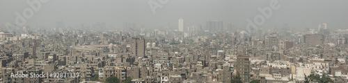 Veduta panoramica della città del Cairo in Egitto  #92871339