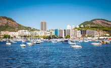 Harbor In Guanabara Bay, Rio De Janeiro, Brazil.