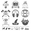 Retro Vintage Insignias set, vector design elements, business