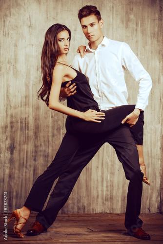 fototapeta na lodówkę tango dance