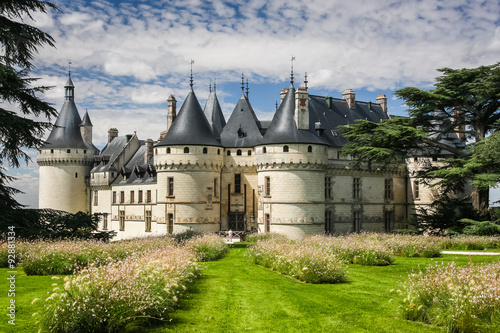 Poster de jardin Chateau Chaumont castle in Loire Valley, France