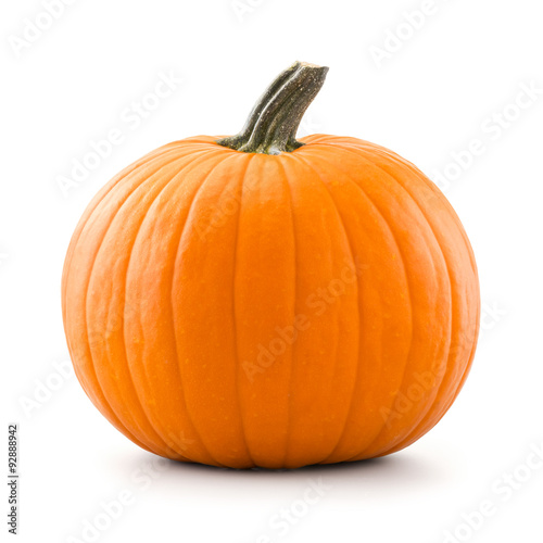 Pumpkin isolated on white background Wallpaper Mural