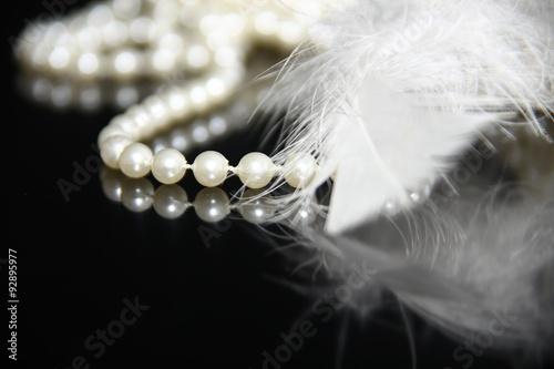 Perlen Federn Schmuck