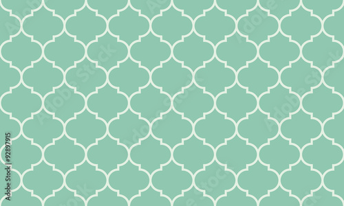 Seamless turquoise wide moroccan pattern vector Canvas Print