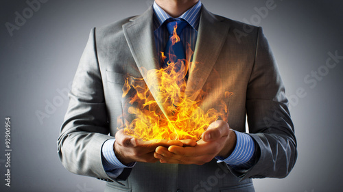 Canvas Prints Fire / Flame Passionate for power