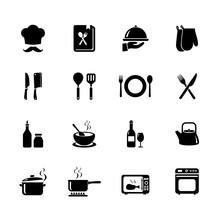 Set Of Cooking Icon. Kitchen I...