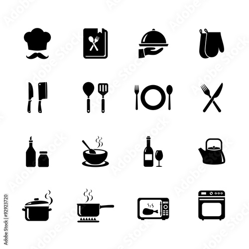 Set Of Cooking Icon Kitchen Icon Vector Illustration
