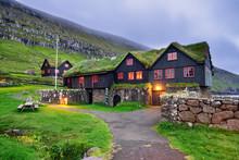 Kirkjuboargardur, Historic Wooden Farm And A Museum In Kirkjubour, Faroe Islands