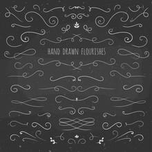 Set Of Hand Drawn Flourishes O...