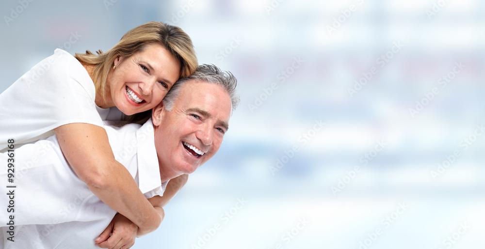 Fototapeta Happy senior couple portrait.