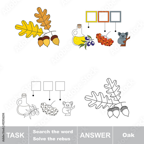Vector Game Find Hidden Word Oak Search The Word Buy This Stock