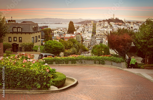 Photo sur Toile San Francisco Lombard Street, San Francisco