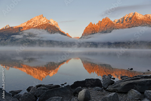Sunrise at Grand Teton and the Teton Range, Grand Teton National Park, Wyoming, плакат