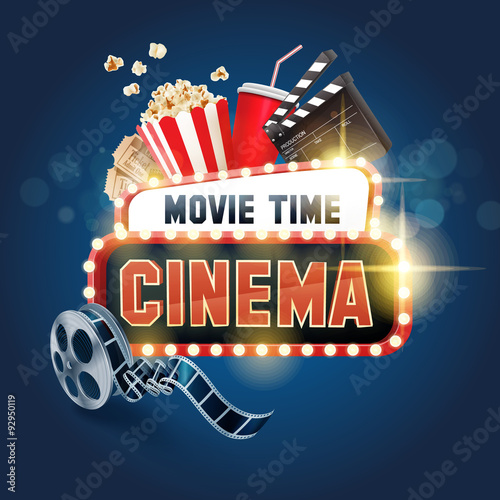 Movie time design elements vector backgrounds 05 - Vector