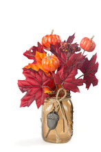 Fall Leaves And Pumpkins Arran...