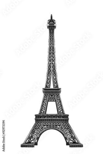 Deurstickers Eiffeltoren Eiffel tower isolated.