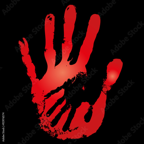 Fototapety, obrazy: Conceptual mother and child hand print isolated