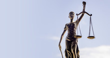 Scales Of Justice Symbol - Legal Law Concept Image.