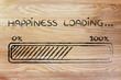 Leinwandbild Motiv happiness loading, progess bar illustration
