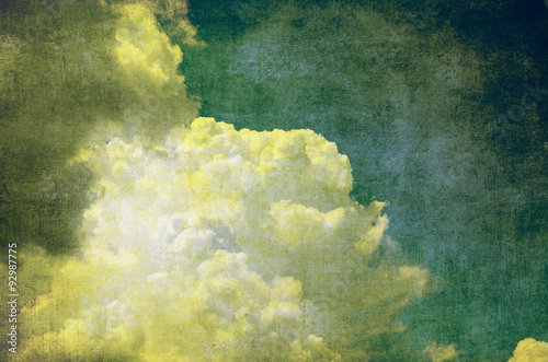 Fotografie, Obraz  grunge sky