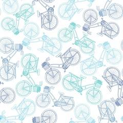 Tapeta Old Bicycle Seamless Pattern