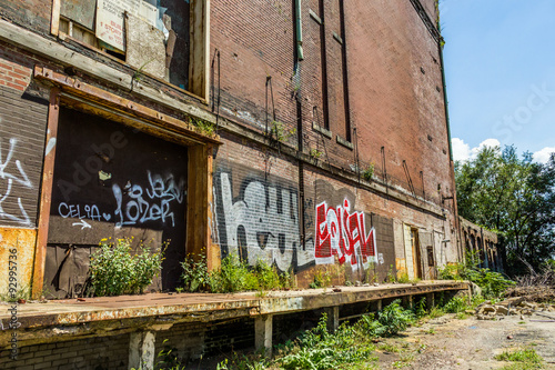 Abandoned building in Saint Lious, MO with graffiti