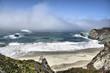 Misty Beach / Coastal view from Big Sur in California