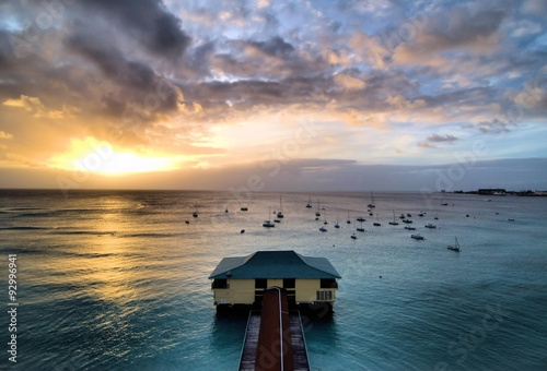 Barbados Sunset / Sunset on the Island of Barbados Wallpaper Mural