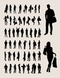 People Silhouettes, art vector design