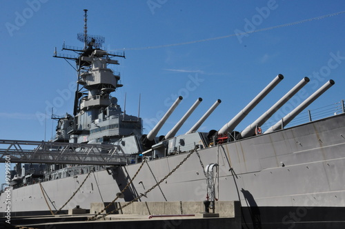 Photo  USS Wisconsin Battleship (BB-64) in Norfolk, Virginia