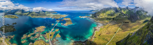 Obraz na plátně Lofoten panorama