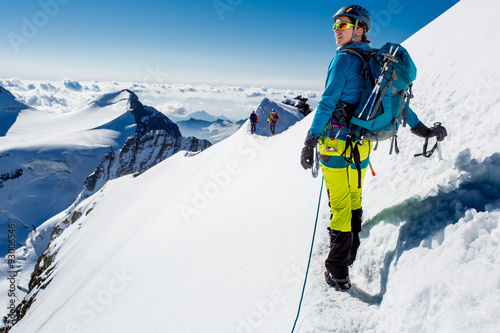 Poster Alpinisme Mountaineer