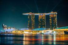 Laser Show In Marina Bay Sands