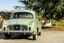 Funny Retro French Car View