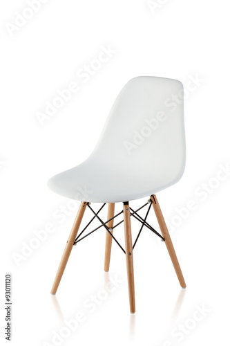 Fotografie, Obraz  modern chair with wooden legs