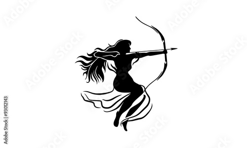 Fotografija woman archer image vector